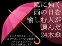 雨の日をお洒落に♪風にも強い24本傘ワインレッド◆送料無料