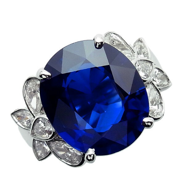 サファイア リング 10.18ct --オーバルミックスカット Pt サファイア サファイヤ ブルー 鑑別書付 リング 大粒 プラチナ 10カラット 10ct ダイアモンド ダイヤモンド 天然