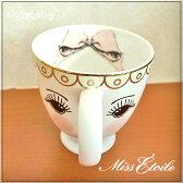 Miss Etoile ミスエトワール :コーヒーマグカップ オープンアイ【北欧】【輸入雑貨】【デンマーク】02P29Aug16