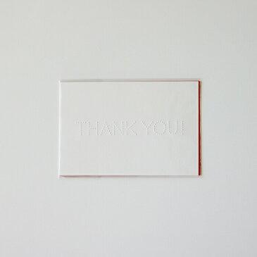 【メール便対応・即日発送】torinoko THANK YOUポストカード 白・朱・茶 3枚セット[グリーティング/手紙/挨拶状]