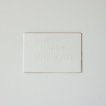 【メール便対応・即日発送】torinoko HAPPY BIRTHDAYポストカード 白・朱・茶 3枚セット[グリーティング/手紙/挨拶状/誕生日/プレゼント/メッセージカード]