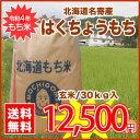 【送料無料】名寄市風連町★H28年産★はくちょうもち30kg/玄米