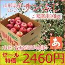 りんご 訳あり自家用 サンふじ10キロ(25玉〜45玉前後) 送料無料(本州・北海道) 山形県産 たっぷり10キロでこの価格!美味しいりんごはいかがですか?