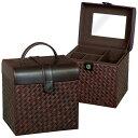 【送料無料】天然の素材を使用したモダンデザインのコスメボックス化粧箱 小物入れG-5684B