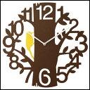 【送料無料】木をモチーフにした 壁掛け時計 PICUS 直径41.5cm振り子時計 CL-5743BN