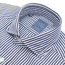 バルバ/BARBA シャツ メンズ DANDYLIFE カッタウェイシャツ ホワイト×ネイビー 2016年秋冬新作 LFU136-4913-02UBLU