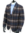 ラルディーニ/LARDINI ジャケット メンズ ウールジャケット ブルー×ブラウン 2016年秋冬新作 IC903Q-47556-1BLBR