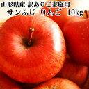 【訳あり】【送料無料】山形県産 無選別 サンふじ りんご 10kg [ご家庭用りんご10キロ]