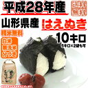 [新米][あす楽][ポイント2倍][送料無料]平成28年産 山形県産はえぬき 玄米 10kg(5kg×2袋も可)[白米・無洗米・分づき]
