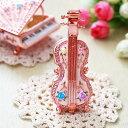 ショッピング置物 【ジュエリーボックス】バイオリン ローズピンク ジュエリーボックス EX5661 n80828