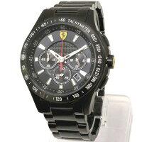 Scuderia フェラーリ Ferrari ブラックトーン ダイヤル Black-Tone Dial SS クロノグラフ メンズ ウォッチ 830046 n61206
