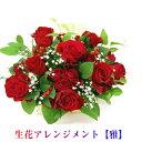 花 ギフト赤 バラ 生花 アレンジメント「雅」誕生日 記念日 お祝い 敬老の日 還暦祝い