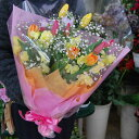 生花 花束 チューリップ 10本 かすみ草 その他の花