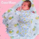 ココムーン Coco Moon おすすめ 人気 ハワイ ガウン 帽子 セット 新生児 ベビーパイナップル アロハ aloha gift ギフト おくるみ