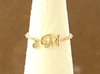 """Catenare initiatives' initial diamond chain ring 18-karat gold"