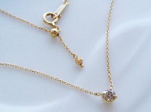 ゴールド ブラウン ダイヤモンド ネックレス フィオーレ・ブルーノ