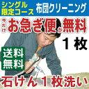 布団クリーニング 布団丸洗い シングルサイズ限定コース1枚【...