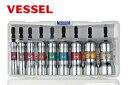 【ベッセル/VESSEL】SL209PS No.SL 剛鍛セミロングソケット9本組 六角軸規格6.35×13