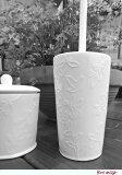 ★あす楽★鳥の模様が、可愛い『トイレブラシ』アイボリー陶器製 【RCP】【HLS_DU】