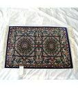 【送料無料】ペルシャ絨毯 サイズ:74×53 産地:クム 材質:シルク