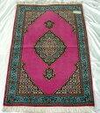 【送料無料】ペルシャ絨毯 サイズ:118×82 産地:タブリーズ 作者:50R 材質:ウール