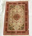 【送料無料】ペルシャ絨毯 サイズ:150×100 産地:クム 材質:シルク