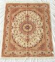 【送料無料】ペルシャ絨毯 サイズ:195×153 産地:タブリーズ 材質:ウール