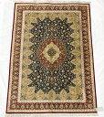 ペルシャ絨毯 サイズ:195×132 産地:クム 作者:ジャムシーディ 材質:シルク【送料無料】【同梱不可】【RCP】【店頭受取対応商品】