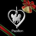 (パピヨン)材質シルバードッグモチーフのネックレス(クリスマスプレゼント,ドッグネックレス,愛犬ネックレス,アクセサリー,ジュエリー)【楽ギ...