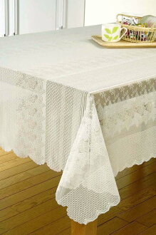 Repellent water processing カチオンレース tablecloth large 10P02jun13