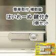 [防犯グッズ]窓用補助錠 はいれーぬ 鍵付き【あす楽対応商品】 3個パック(DS-H-15V)