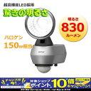 【スマホエントリーでポイント10倍!】屋外用センサーライト RITEX(ライテックス) LED10W×1灯 LED-AC1010 360°センサーを搭載しているのであらゆる角度を検知し、不審者を威嚇! AC100V 防犯グッズ