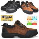 Wilson(ウイルソン)スエード/ウォーキングシューズ/超軽量/紐靴/ファスナー付き/No1704