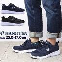 即納 HANG TEN ハンテン メンズ 超軽量 スポーティー スニーカー 紐靴 運動靴 hn114