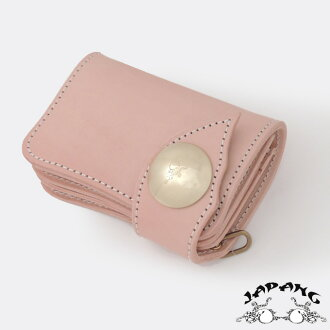 "KWATAKO JAPANG*WAKASHO KIKAKU Natural plant Tannin tanned leather 100% Folio wallet ""MUKU-HAN""Made in JAPAN"