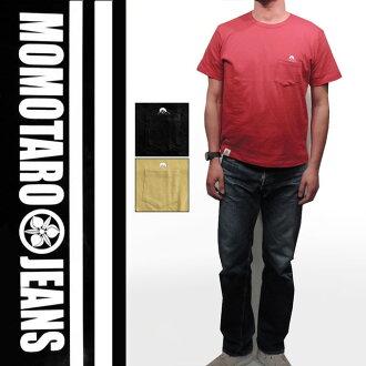 """""""Momotaro JEANS» Pocket momotaro Zimbabwe tenjiku T shirt /Lot.07-004"""