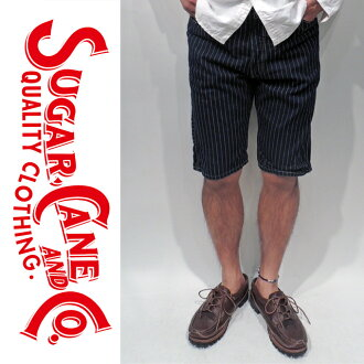 ウオバッシュエンジニアショートパンツ /9oz.WABASH_STRIPE_ENGINEER_SHORT_PANTS/SC50953A _SUGAR_CANE_ sugar Cane