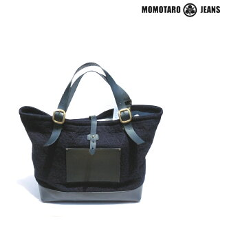 """Momotaro JEANS» DENIM LEATHER and sashiko × Tote with back Lot.AS-66-S ★ 2013SS/NEW ITEM ★"