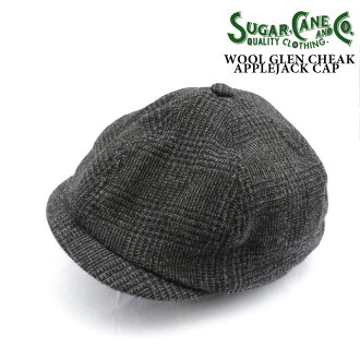 WOOL GREN CHECK APPLE JACK / Lot.SC02025 green check Apple Jack CAP, newsboy SC02025-113) GARY Made in JAPAN_fs04gm