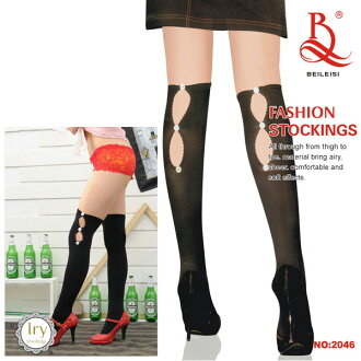 襪帶的襪子和裝飾扣吊襪帶長筒襪吊襪帶襪襪膝蓋高膝蓋性感內衣性感內衣哥特式洛麗塔哥特式洛麗塔緊身黑色 [d] Beileisi