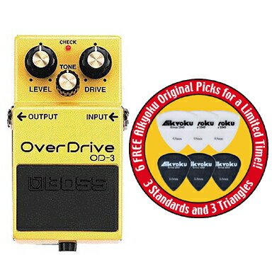 ポイント7倍愛曲楽器オリジナルピック6枚付送料込ボスBOSSOD-3OverDriveオーバードライ