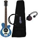 セット内容ギター本体:Pignose PGG-200ソフトケース:付属品ヘッドホン:ARIA AHP-1000※在庫状況により同等品になる場合がございます。ピグノーズ・アンプのコンセプトを受け継いだユニークかつ実用的なコンパクトギターとしてベストセラーになったピグノーズ・ギター。PGG-100の後継モデルとして登場したスタンダードモデルPGG-200は新たにアルダーボディ仕様、ピッチドヘッド仕様、そしてマイクロ・ハムバッキングPUを搭載。カラーに合わせて指板、ピックガードがコーディネイトされています。 オープンバック構造ギターアンプと同じオープンバック構造を採用。パンチングホール入りのバックプレートにより、ナチュラルで気持ちのいいサウンドを生み出す。また身体でこの部分をふさいだり開けたりすることで、ワウ効果も得られる。 バッテリーボックス ワンタッチで開け閉めでき、イージーに電池交換ができる独立式のバッテリーボックス。 アウトプット・ジャック アウトプット・ジャックから外部アンプに接続すれば、コンパクトな外観に似合わない本格的なサウンドが実感でき、ライブステージでも活躍間違いなし。ヘッドフォン・ジャック深夜に練習したくなった時や自分の世界にひたりたい時は、ヘッドフォン・ジャックに手持ちのヘッドフォンを接続すれば、スピーカーからの音が消えて周りを気にすることなく演奏に集中することができる。マイクロ・ハムバッキング・ピックアップ ギターのサウンドを決定付けるピックアップには、マイクロサイズのツインバー・ハムバッキングを採用。最小のスペースの中で、最大限に太いサウンドを得るための工夫がなされている。マイクロアンプ&10cmスピーカー長年に渡ってコンパクトアンプでつちかわれたノウハウをもとに設計された、オリジナル・マイクロアンプと10cmヘビーデューティ・スピーカーによる、超強力なドライブサウンドがいきなり飛び出す。さらにフルボリュームにすると、なんとフィードバック奏法まで可能。限りないサスティーンの海に酔いしれることができる!! SpecificationsBody: BasswoodNeck: Maple,Bolt-on, Pitched Head Fingerboard: Tech Wood or MapleFrets: 22F Scale: 610mmPickups: Original Mini Humbucking x1Controls: Volume w/push-pull power switch (built-in Micro Amplifier)Speaker: 10cm Full rangeJacks: Output, Headphone(Mini Jack)Power: 006P 9V Battery×1Tailpiece: Fixed BridgeHardware: Chrome