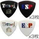【送料込】【2色各3枚 計6枚セット】ESP PA-LT10-Tricolour L'Arc〜en〜Ciel TETSUYA ソロデビュー15周年記念 ピック【smtb-TK】