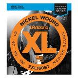 【弦1セット】【メール便??代引不可】ダダリオ D'Addario EXL160BT1セット ベース弦 Medium[50-120]【smtb-TK】