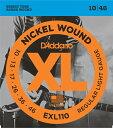 【ポイント2倍】【メール便・送料無料・代引不可】D'Addario/ダダリオ EXL110×10セット エレキギター弦 Regular Light [10-46]【smtb-TK】