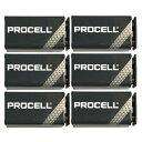 【ポイント2倍】【限定特価】【6個】DURACELL PROCELL 006P 角型 9V 乾電池