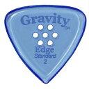 【ポイント2倍】【メール便・送料無料・代引不可】GRAVITY GUITAR PICKS GEES2PM Edge -Standard- [2.0mm with Multi-Hole/Blue] アクリル ピック【smtb-TK】