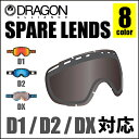 DRAGON ドラゴン ゴーグル D1 D2 DX 対応 スペアレンズ 【レビューで送料無料】 LENS 交換レンズ 替えレンズ スノーゴーグル 日本正規