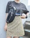 Leopard Glitter Mini Skirt【レオパード柄】【ヒョウ柄】【アニマル柄】【ミニスカート】【グリッタースカート】【パンツライナー】【..