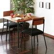 ダイニングセット 2人用 3点セット カフェテーブル 椅子 テーブル 幅78cm チェア 2脚 モダン 食卓セット ♪【 05P03Dec16 】